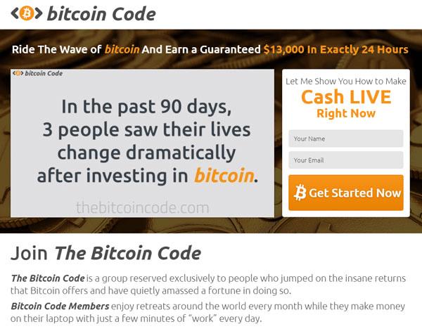 Bitcoin Code Istruzioni. Come si usa? Come utilizzare Bitcoin Code?