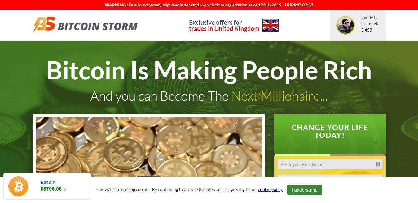 Bitcoin Storm Istruzioni. Come si usa? Come utilizzare Bitcoin Storm?